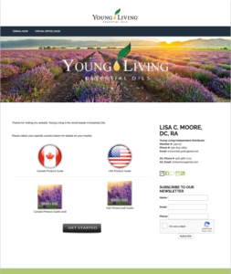 Young Living Order Page